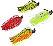 Fishing Lure Spinners Baits Bass Flipping Jigs Topwater Swimbaits Kit for Pike Trout Salmon 4pcs
