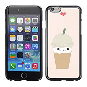 Plastic Shell Protective Case Cover || Apple iPhone 6 Plus 5.5 || Coffee Heart Brown Cute @XPTECH