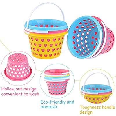 ULTNICE Easter Egg Baskets Plastic 5 Pcs with Easter Grass from ULTNICE