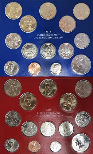 2012 P&D United States Mint Uncirculated Coin Set in Original Government Packaging Brilliant Uncirculated ()