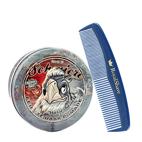 Rumble59 Schmiere Waterbased Extra Firm Pomade + RoyalShave Unbreakable Comb!