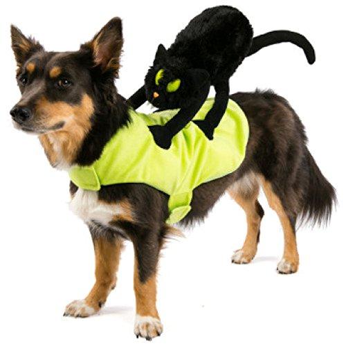 Black Cat Dog Halloween Costume (Top Paw Pet Halloween Black Cat Rider Dog Costume Size Small / Medium)
