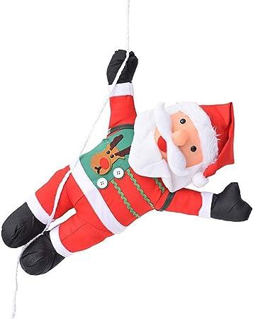 Dynamicoz Navidad de Santa Claus Subir en la Escalera de Cuerda muñeca Colgar de la Pared del Ornamento, Fiestas de Navidad Famous: Amazon.es: Hogar