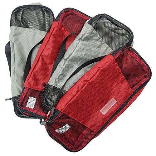 Travel Packing Cubes with Unique Number AND Color Coded Organization System for...