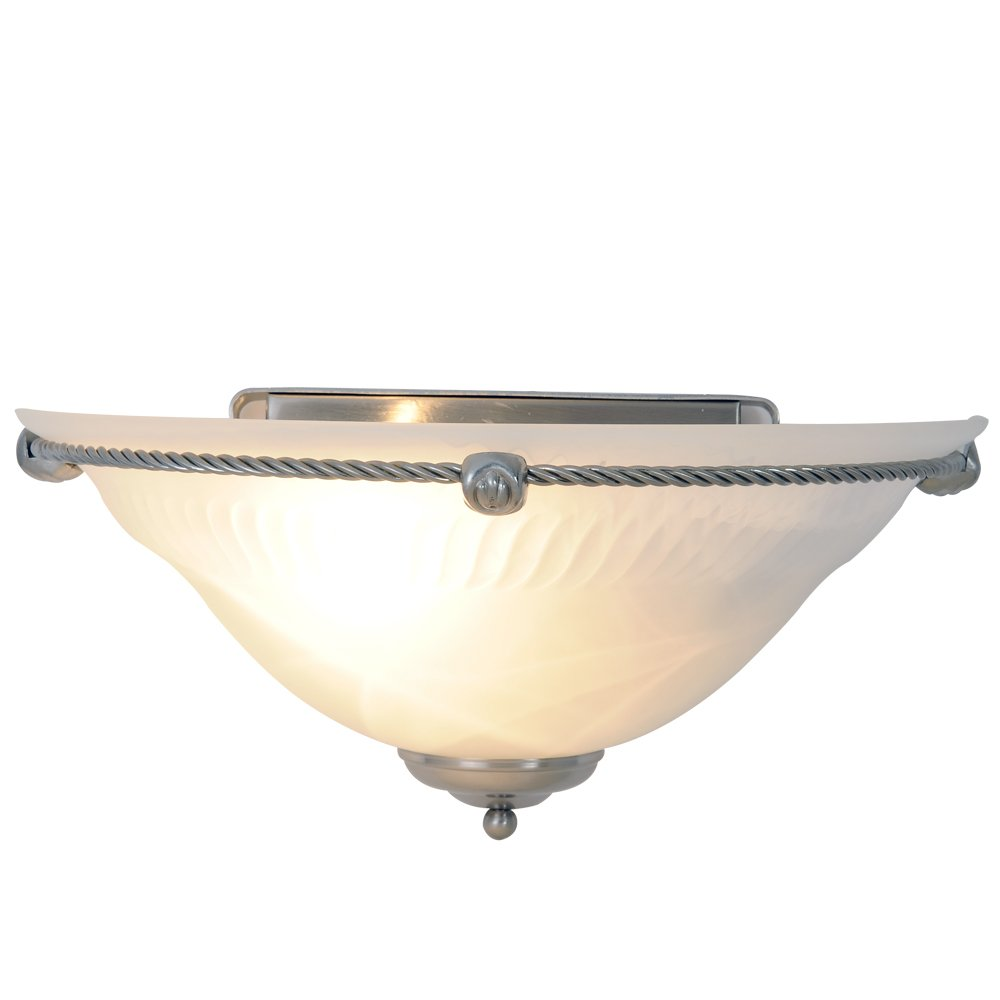 Monument 617073 Torino Wall Sconce, Brushed Nickel, 13 In.