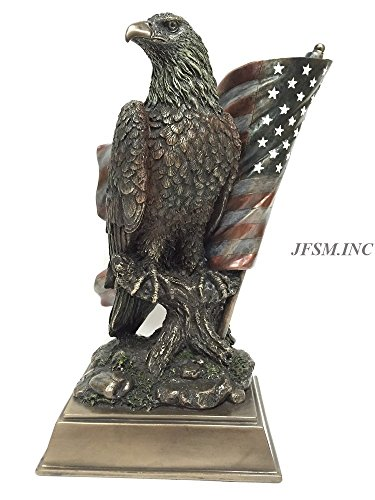 (Veronese American Pride - Bald Eagle with Stars & Stripes Statue)