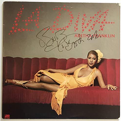 Aretha Franklin signed album lp la diva autographed beckett coa