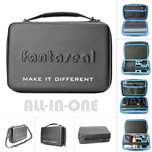 Action Camera Hand Bag Mounts Accessories Carrying Case Bag Organizer Hi Capacity Dual-Layer Waterproof Anti-Impact Travel Suitcase Compatible with GoPro Hero 6 5 4 3+ 3 Session Sony Yi AKASO -13