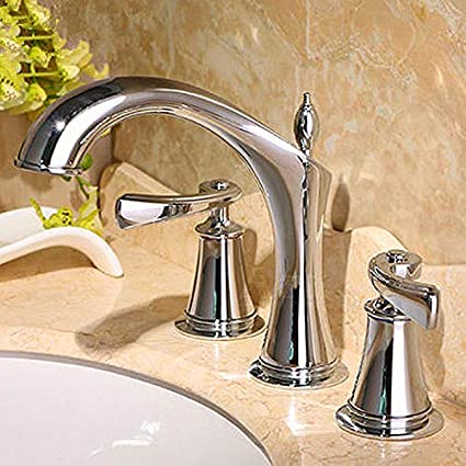 Amazon Com Lhbox Basin Mixer Tap Bathroom Sink Faucet Two Of The