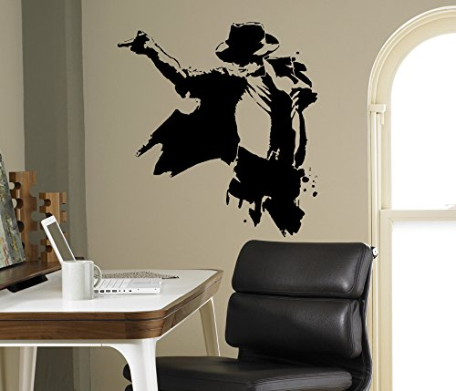 Michael Jackson Wall Decal King of Pop Vinyl Sticker Home Decor Ideas Living Room Interior Removable Wall Art 10(mkj)