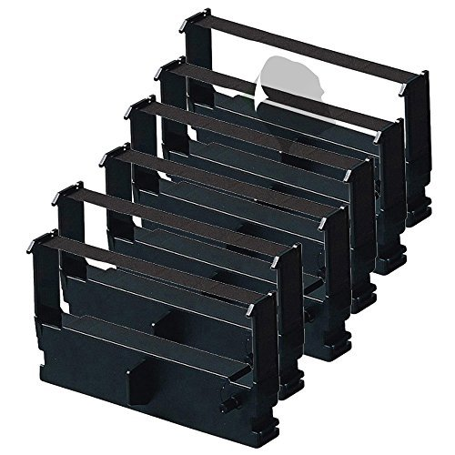 Gorilla Supply 6pack New Ink Ribbon ERC-32 for Epson M820 825 ERC32 NK500 (Purple)