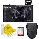 Canon PowerShot SX740 HS Digital Camera (Black) with 32 GB Card + TopKnotch Bundle