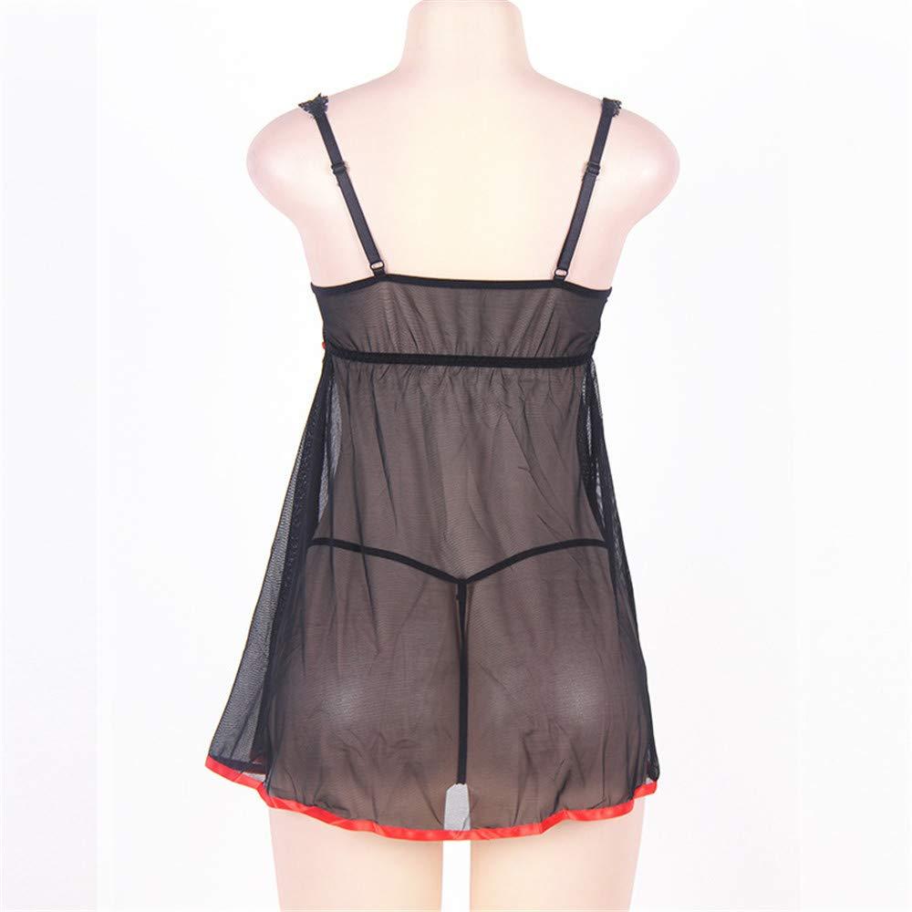 Diversión sexy Gran ropa interior sexy de encaje liguero transparente tul liguero encaje sexy camisón tentación pijamas,XL 243d0c