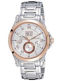Seiko Mens PREMIER Analog Dress Kinetic Watch (Imported) SNP080P1