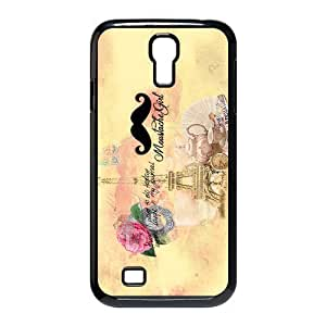 Custom Your Own Personalized Mustache Eiffel Tower SamSung Galaxy S4 I9500 Case, Snap On Hard Protective Mustache Galaxy S4 Case Cover