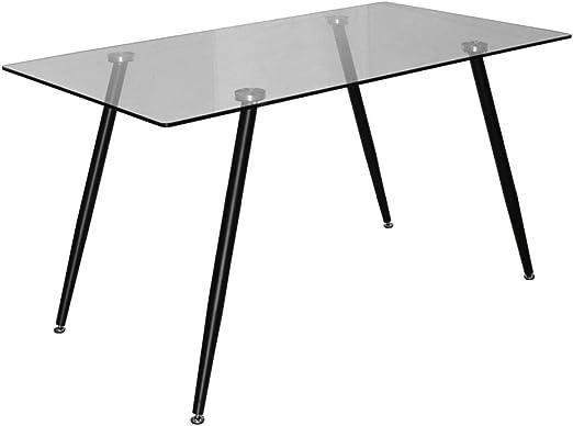 BUDMOSUR Mesa de Comedor en Cristal Templado 140cm: Amazon.es: Hogar