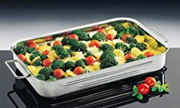 Kuchenprofi 1070002832 12-1/2-Inch by 8-Inch by 2-1/2-Inch Stainless Steel Lasagna/Roast Pan