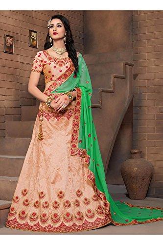 6365 Fashions Women Peach Biz 59114 K Wedding Choli Indian Lehenga Designer TxqzrST