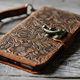 Handmade Genuine leather Retro Book Style Leather Wallet Case for Samsung Galaxy note 8
