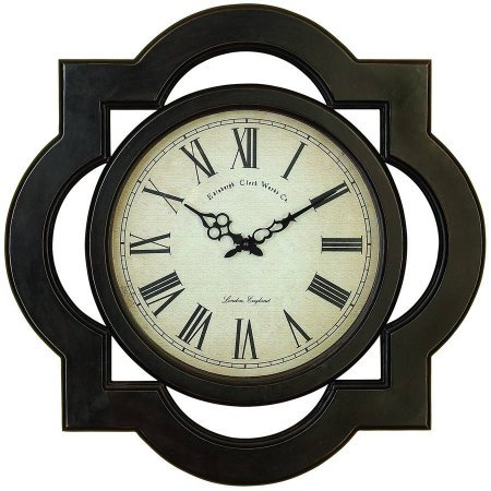 Decmode Wood Wall Clock, Multi Color