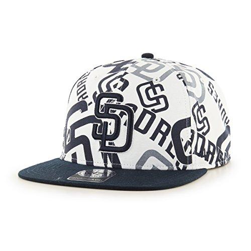 ('47 MLB San Diego Padres Bravado Captain Adjustable Snapback Hat, One Size, White)