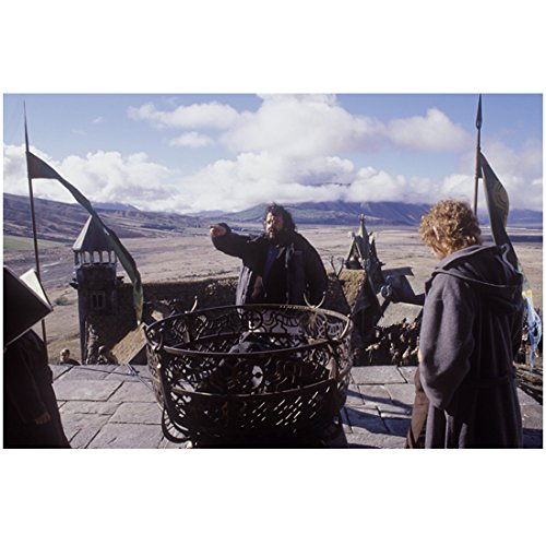 The Lord of the Rings Peter Jackson on Set Directing by Fire Pit 8 x 10 Inch Photo (Lord Of The Rings Fire Pit Ring)