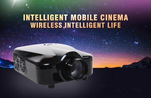 Hd LED Projector Home Theater with Hdmi VGA for Video Games Tv Movie Portable, support 3d blue ray