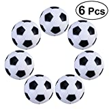 Table Soccer Foosballs Replacements Mini Black White Soccer Balls Pack of 6