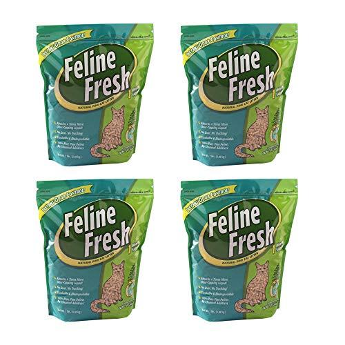 Feline Fresh Pelleted Pine Cat Litter (4 Pack (28 LBS.), 7 lbs.)