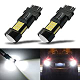 Automotive : iBrightstar Newest Extremely Bright 36-SMD 3030 Chipsets 3156 3157 3057 4157 LED Bulbs with Projector Lens replacement for Back Up Reverse Parking Daytime Running Lights, Xenon White