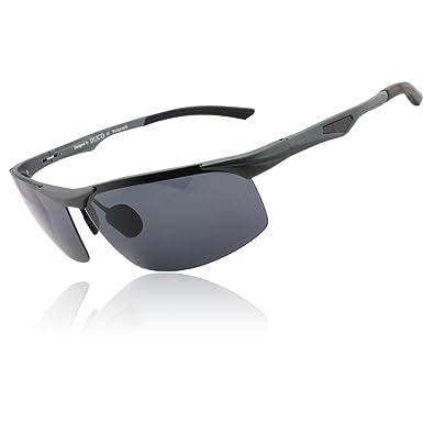 67b7f0fb4291 DUCO Men s Driver Sunglasses Polarized Eyewear Sports Glasses Fishing Golf  Goggles X6 (Gunmetal)