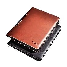 Vintage Style Handmade Leather Zippered Closure Portfolio Professional Business File Folder