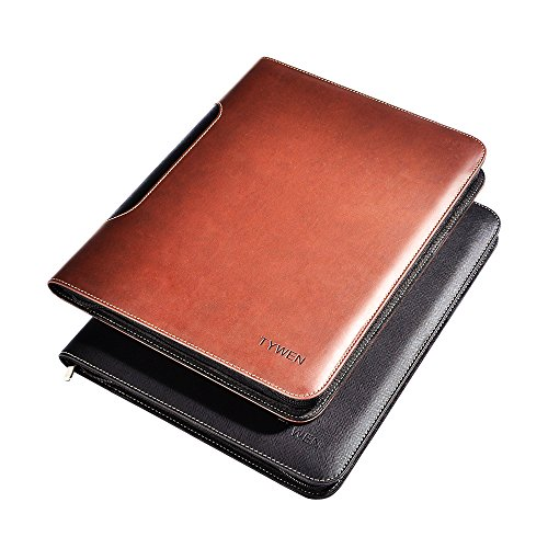 Vintage Style Handmade Leather Zippered Closure Portfolio Professional Business File Folder