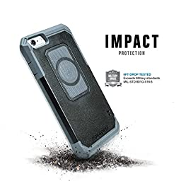 Rokform iPhone 6/6s Sport Series Case/Cover, Slim, Rugged, Ultra Protective, Reinforced TPU Corners Molded to Tough Polycarbonate, Mounts anywhere and includes  Proven Safe Magnetic Car Mount Black 302201