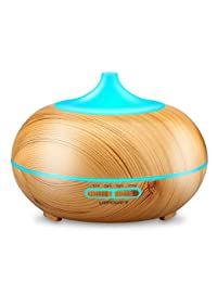 Aromatherapy Essential Oil Diffuser, URPOWER 300ml Wood Grain Ultrasonic Cool Mist Whisper-Quiet Humidifier with Color LED Lights Changing & 4 Timer Settings, Waterless Auto Shut-Off for Spa Baby BOBEBE Online Baby Store From New York to Miami and Los Angeles