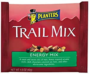 Planters Trail Mix, Energy Mix, 1.5-Ounce Pouches (Pack of 30)