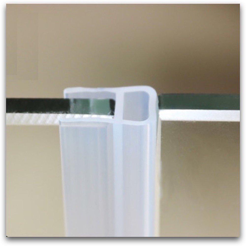 Door Gasket 12mm 1/2 inch Thick Glass Sealing Strip Screen Sliding Sash Shower Stall Door Window Seals Draught Excluder Weatherstrip Draft Stopper 1 Meter 3.28 Feet U