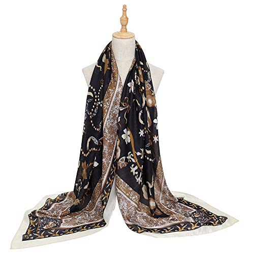 ves Fashion Lightweight Sunscreen 100% Silk Scarfs for Women ()