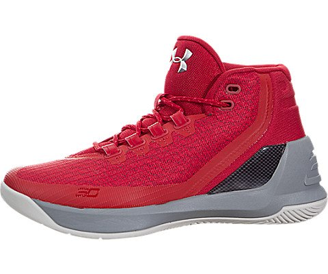 45511591e36f Galleon - Under Armour GS Curry 3 Youth US 5 Red Basketball Shoe