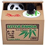 Mansa Cute Stealing Coin Cat Money Box Panda Bank, (Panda)