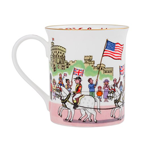 - Alison Gardiner Famous Illustrator - Prince Harry and Meghan Royal Wedding Commemorative Fine Bone China Coffee Cup and Tea Mug - Premium Quality and Detail