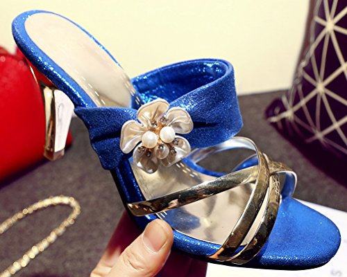 HiTime HiTime Femme Femme Mules HiTime Mules Femme Bleu Bleu HiTime Bleu Bleu Femme Mules Mules PZwrP4