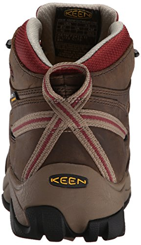 Keen Utility Womens Detroit Mid Steel Toe Work Boot,Black Olive/Madder Brown,9.5 M US