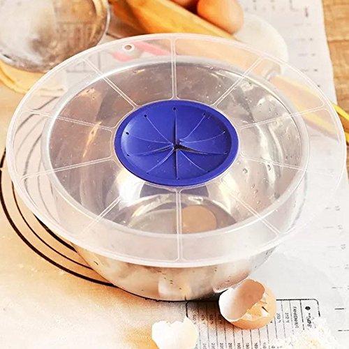 TOOGOO Egg Bowl Whisks Bildschirmabdeckung Beat Egg Zylinder Backen Splash Guard Schuessel Deckel Kueche wasserdichte Schuessel Deckel