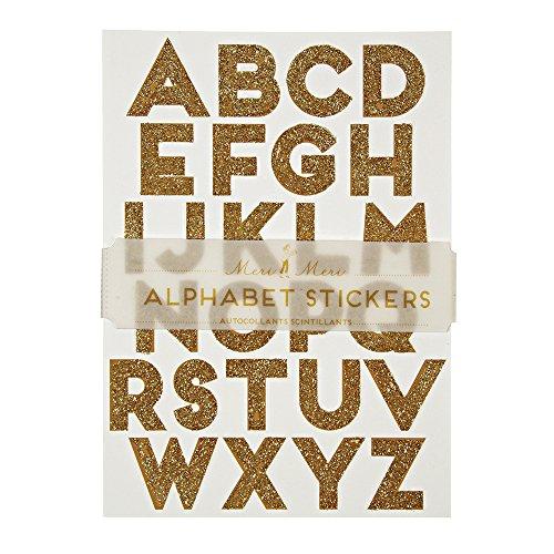 - Meri Meri Gold Glitter Alphabet Stickers
