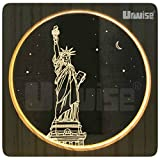 Urwise Goddess victory at night 3D LED Bed Lamp,Creative Wooden Photo Frame Desktop Lamp,USB Night Light for Bedroom Home Decor,Kids Girls Adult Gift AW365302