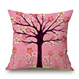 PILLO pillow covers of plant 16 x 16 inches / 40 by 40 cm,best fit for valentine,monther,home,saloon,home,study room double sides