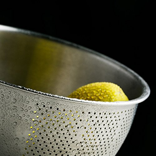 He Xiang Ya Shop Stainless steel cleaning fruit and vegetable basket kitchen tool drain basket home rice washing storage basket thick desktop fruit and vegetable storage rack by He Xiang Ya Shop (Image #4)