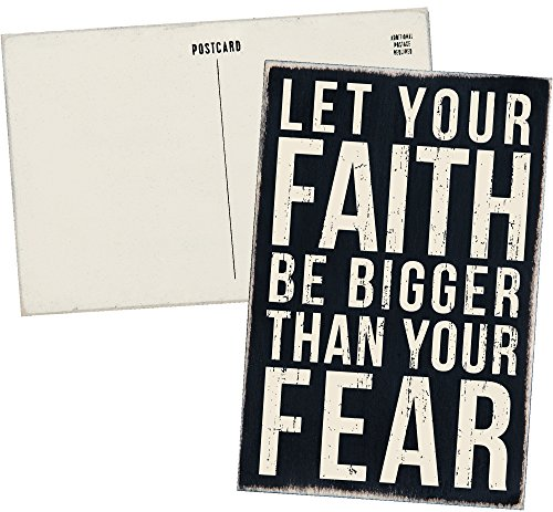 Let Your Faith Be Bigger Than Your Fear - Mailable Inspirational Wooden Greeting Card