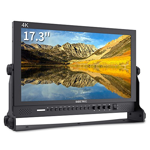 SEETEC P173-9HSD 17.3 Inch 1920x1080 Desktop Monitor for Broadcast LCD Monitoring with 3G-SDI HDMI AV YPbPr